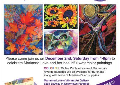 Marianna Love's Vibrant Art Flyer