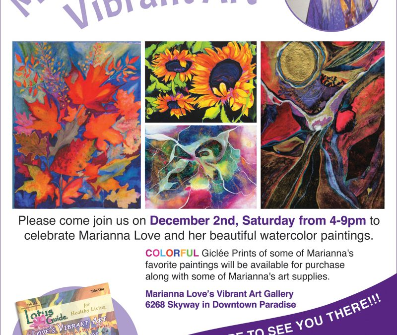 Marianna Love's Vibrant Art Flyer