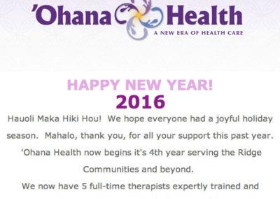 'Ohana Health Email Newsletter